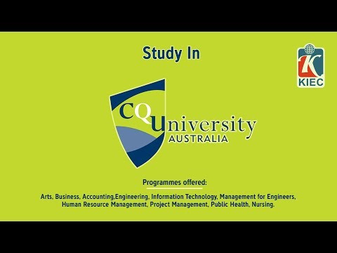 KIEC | Study In CQ University With 20% Scholarships In Bachelors & Masters Degree.