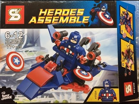 Lego Heroes Assemble avengers   Lắp ghép Lego Hero avengers - YouTube