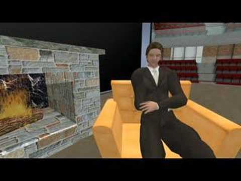 Gavin Newsom & Philip Rosedale in Second Life