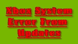 Xbox one System Status Update Failure Review