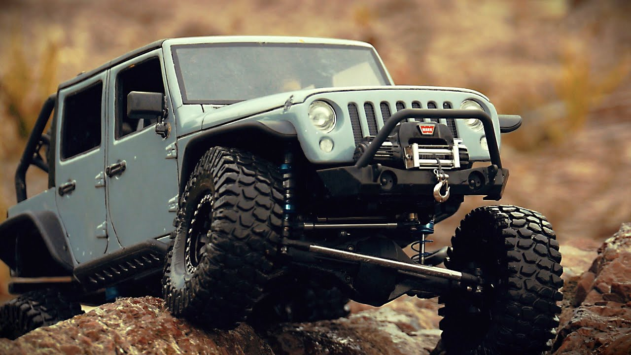 Custom Axial Scx10 With New Bright Jeep Jk 5 Youtube