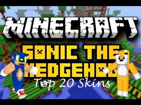 Minecraft Skins Top Sonic The Hedgehog Minecraft Skins YouTube - Skins para o minecraft sonic