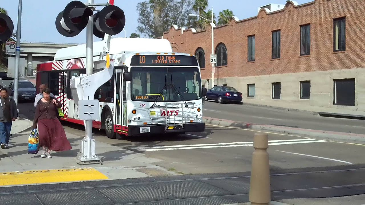 San Diego Mts Buses 2012 New Flyer Route 10 714 Youtube