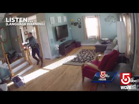 Security camera streams   of break-in arrest
