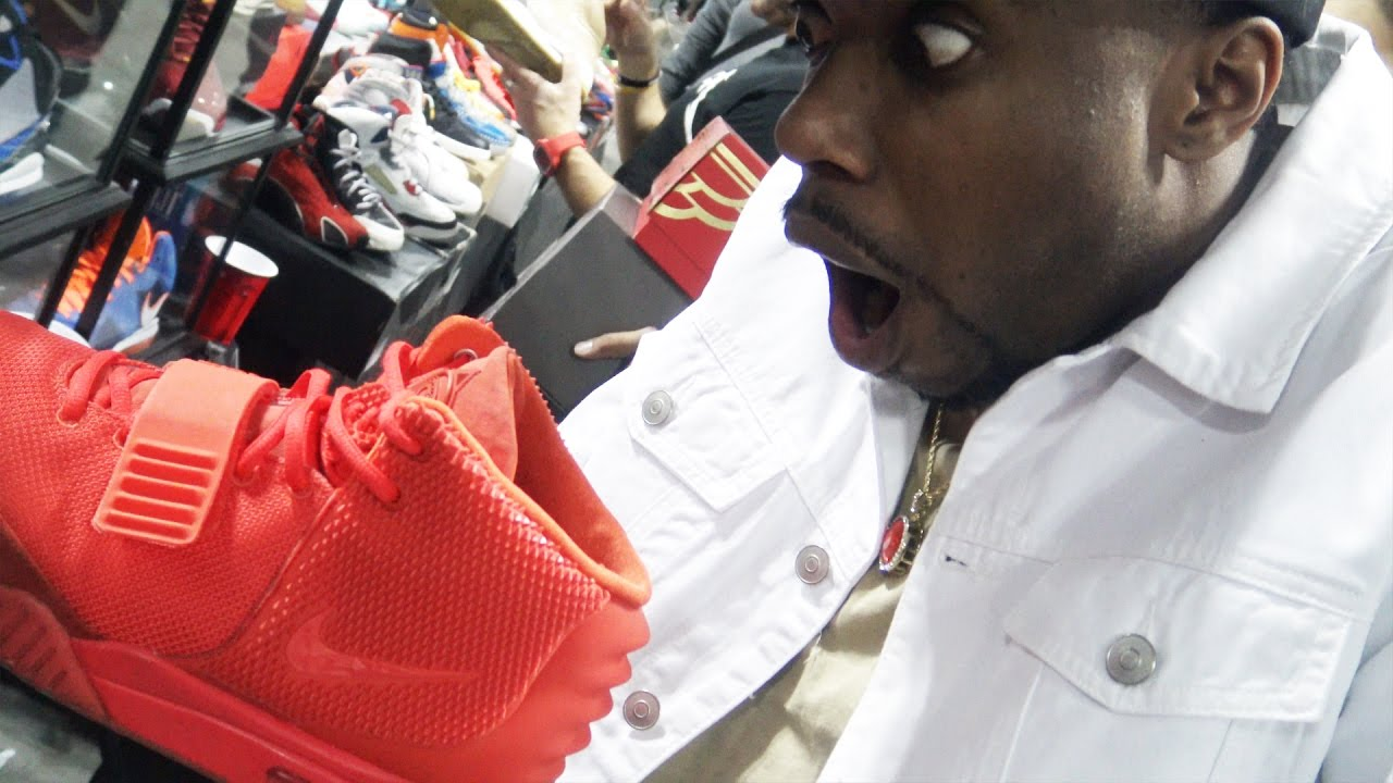 910cb12571eb I BOUGHT BRAND NEW RED OCTOBER YEEZYS FOR  40  SneakerCon! FINESSE! Sneaker  Vlog Ep.41 - YouTube