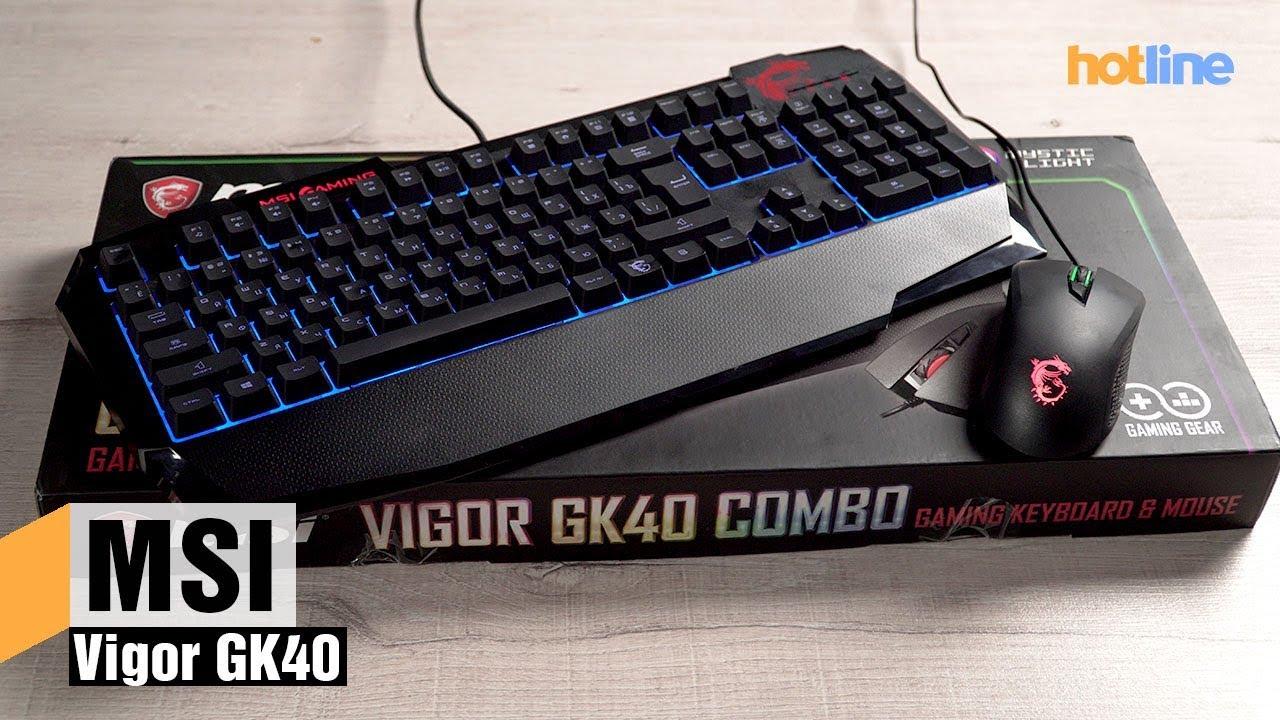 MSI Vigor GK40 — обзор игрового комплекта