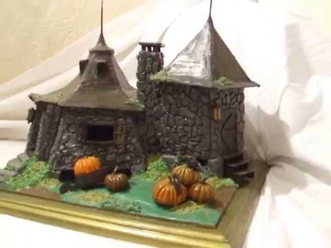 Harry potter casa de hagrid hecha de plastilina y carton youtube - Harry potter casa ...