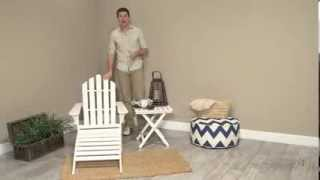 Coral Coast White Painted Acacia Adirondack Chair - Product Review Video