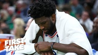 Is Joel Embiid's knee injury a cause for concern? | First Take