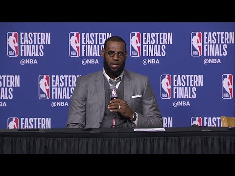 Lebron James Postgame Press Conference | Celtics vs Cavaliers Game 1 | May 13, 2018