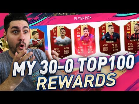 MY FIFA 19 TOP 100 FUT CHAMPIONS REWARDS - I DID 30-0 AND THIS HAPPENED !!!! thumbnail