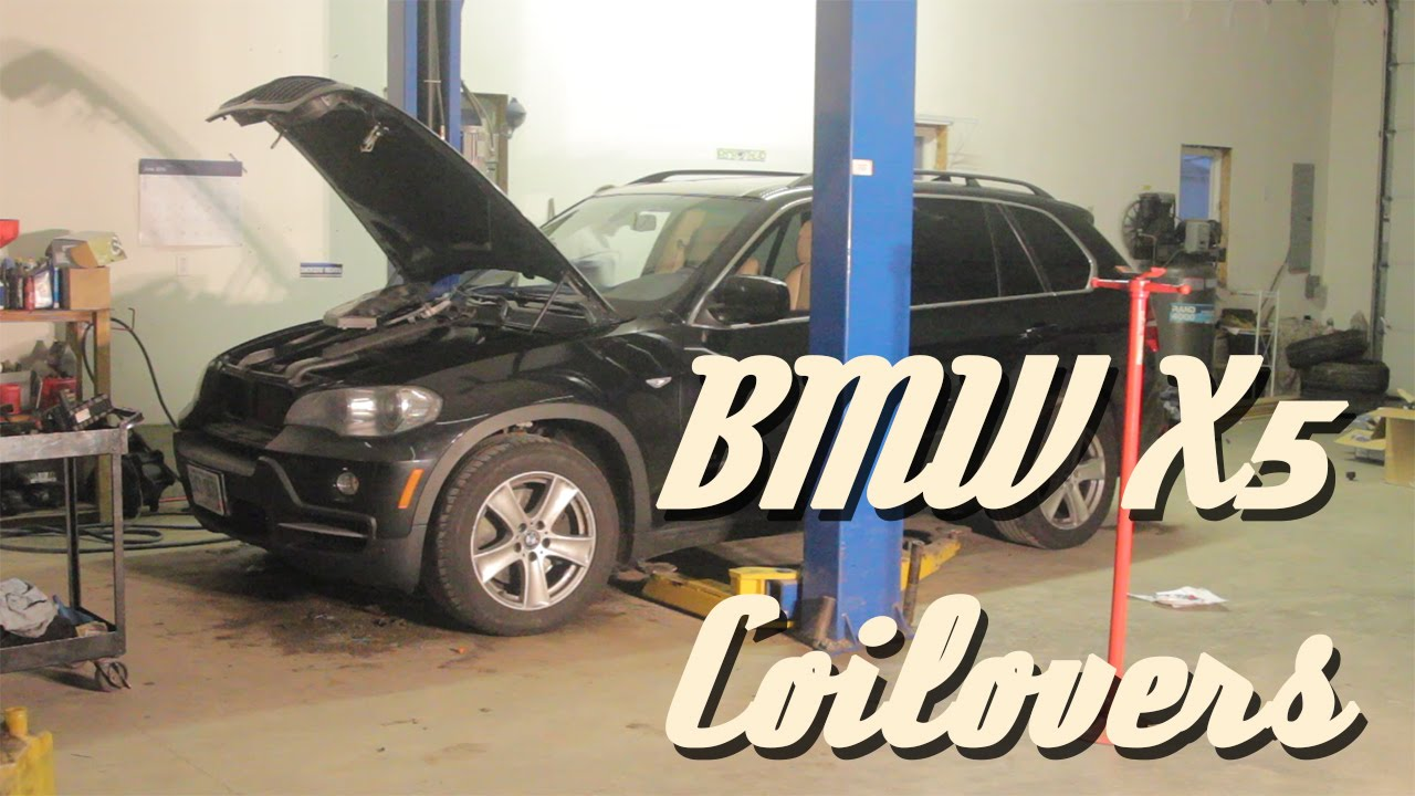 BMW X5 coilover install