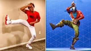 BEST FORTNITE DANCES IN REAL LIFE! - #BoogieDown