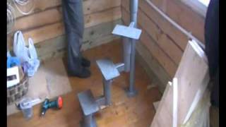 видео Металлические лестницы своими руками: чертежи и прядок сборки