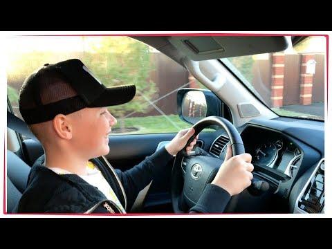 ВЛОГ: Эдвин учиться ездить [ водить ] на Toyota Land Cruiser Prado 2018 Уфа Отец и Сын  2018 VLOG