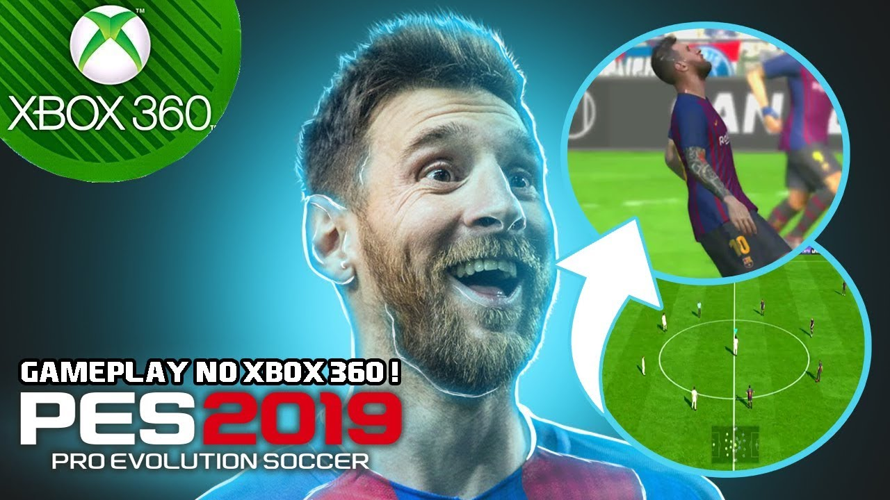 🎮 PES 2019 no XBOX 360 GAMEPLAY 😱 !!! *patch novo download na descrição*