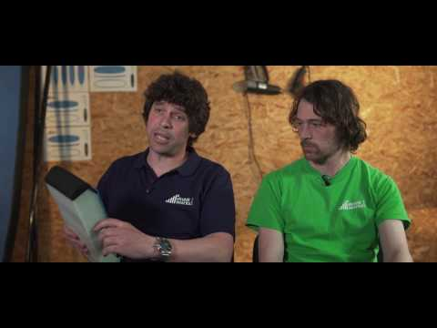 Ricky explaining a SkunkWorks Surf Co. cross-section.