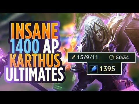 INSANE 1400AP/50MINUTES KARTHUS GAME!