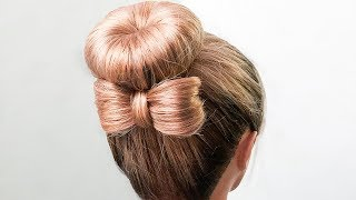 🌿Прически на Последний Звонок Пошагово🌿Бант из волос 🌿 CUTE HAIR BOW TUTORIAL🌿  ©LOZNITSA