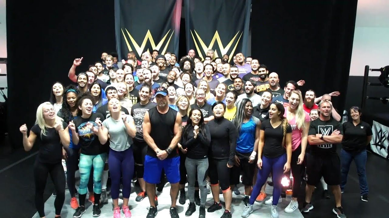 The WWE Performance Center roster sings
