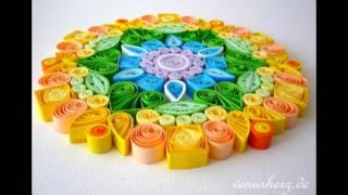 Paper Quilling Rainbow Mandala