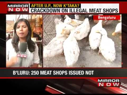 BBMP Acts Against Illegal Meat Shops - The News