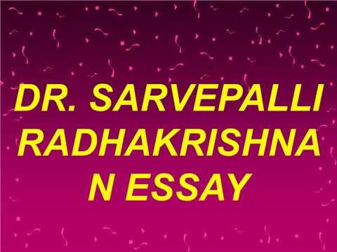 Видео Short essay on dr.radhakrishnan