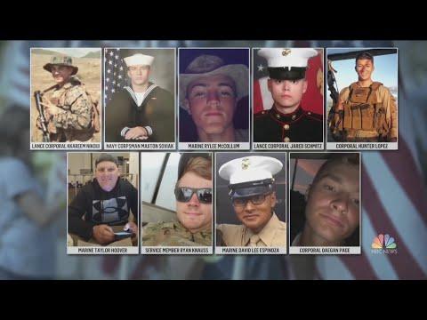 U.S. Military Service Members Killed At Kabul Airport Attack