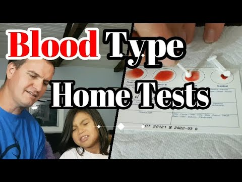 Blood Type Home Tests