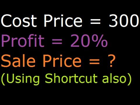 find sale price when profit percentage and cost price is given youtube. Black Bedroom Furniture Sets. Home Design Ideas