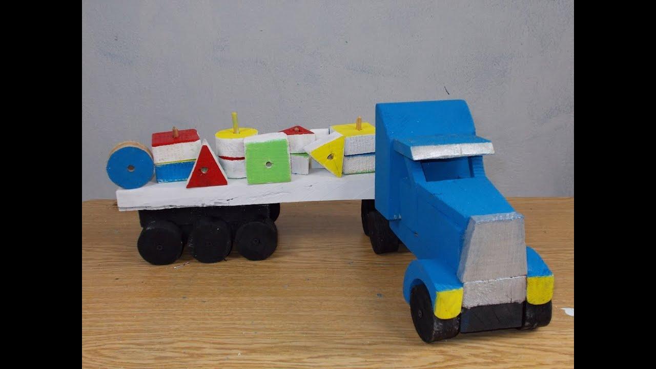 Como hacer un juguete did ctico trailer de pallets youtube for Materiales para hacer un ascensor