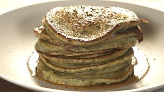 Matcha Black Sesame Seed Pancakes | Erwan Heussaff