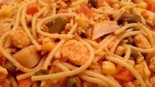 Spaghetti With Mix Vegetable & Chicken In Urdu/hindi By Azra Salim