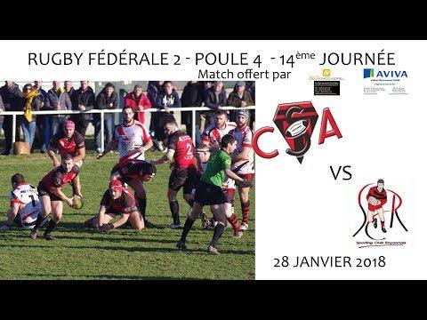 2018 01 28 Rencontres Sportives   Rugby Fédérale 2 14ème journée   CS ANNONAY vs SC ROYANS