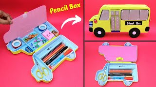 DIY Pencil Case/How to make Car Shaped Pencil Box with waste cardboards/Best out of waste