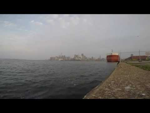 1 hour 6 minutes 4k Ambient Video - Dawn Inner Harbour Toronto Canada May 10th 2015