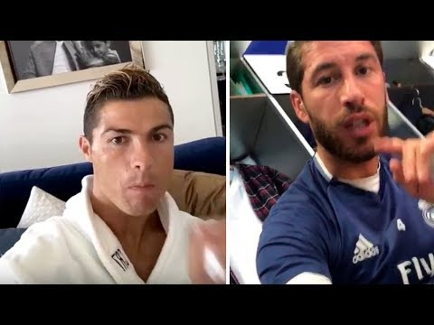 FAMOUS PLAYERS REACTION TO CRISTIANO RONALDO LEAVING REAL MADRID!