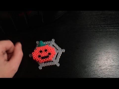 Zucca Di Halloween Pyssla.Tutorial Pyssla Zucca Di Halloween Sorridente Facile