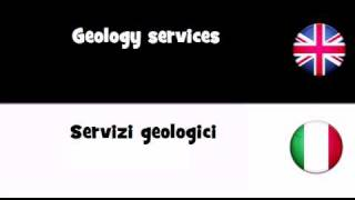 VOCABULARY IN 20 LANGUAGES = Geology services(, 2011-04-05T04:48:13.000Z)