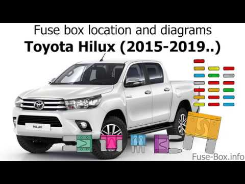 Fuse box location and diagrams: Toyota Hilux (20152019