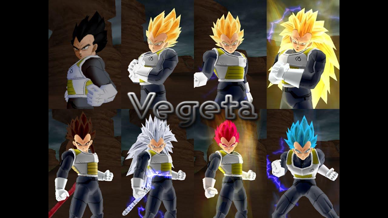Vegeta fnf all form hq dragon ball z budokai tenkaichi 3 youtube - Vegeta all forms ...
