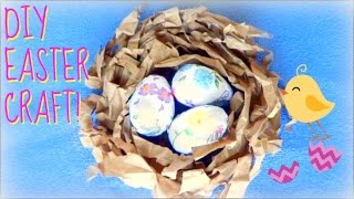 Diy Easter Craft | Decorative Bird's Nest & Eggs