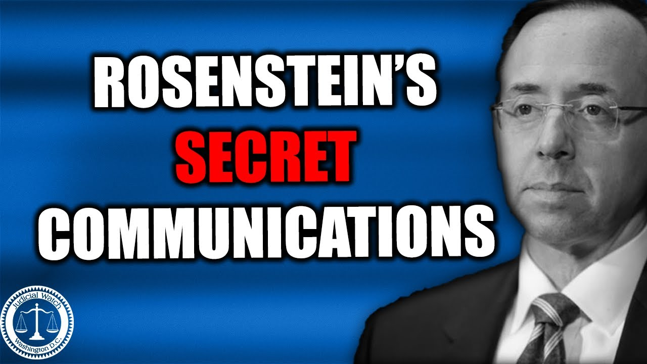 NEW: Rod Rosenstein's Communications with Eric Holder, Other Obama Officials & the Media! - Judi