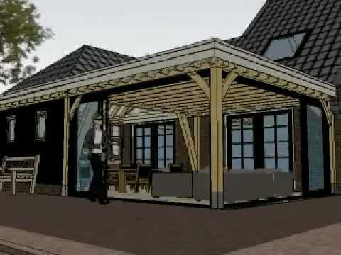 eiken aanbouw met deels plat dak en schildak met gebint van gebouwerbijnl youtube