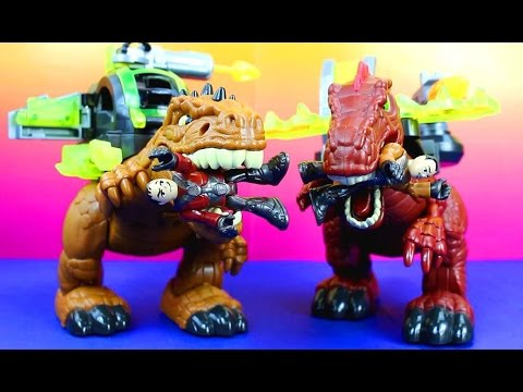 Imaginext Fisher Price Motorized Spinosaurus &  Imaginext Motorized T-Rex Just4fun290