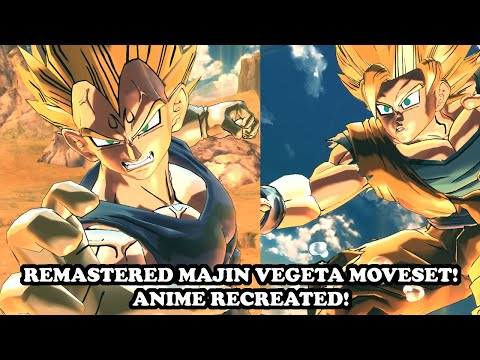 *NEW* REMASTERED MAJIN VEGETA MOVESET (Anime Recreated)! Dragon Ball Xenoverse 2 Mods