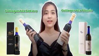 Review nước uống Collagen 82x Classic và Sakura của Nhật