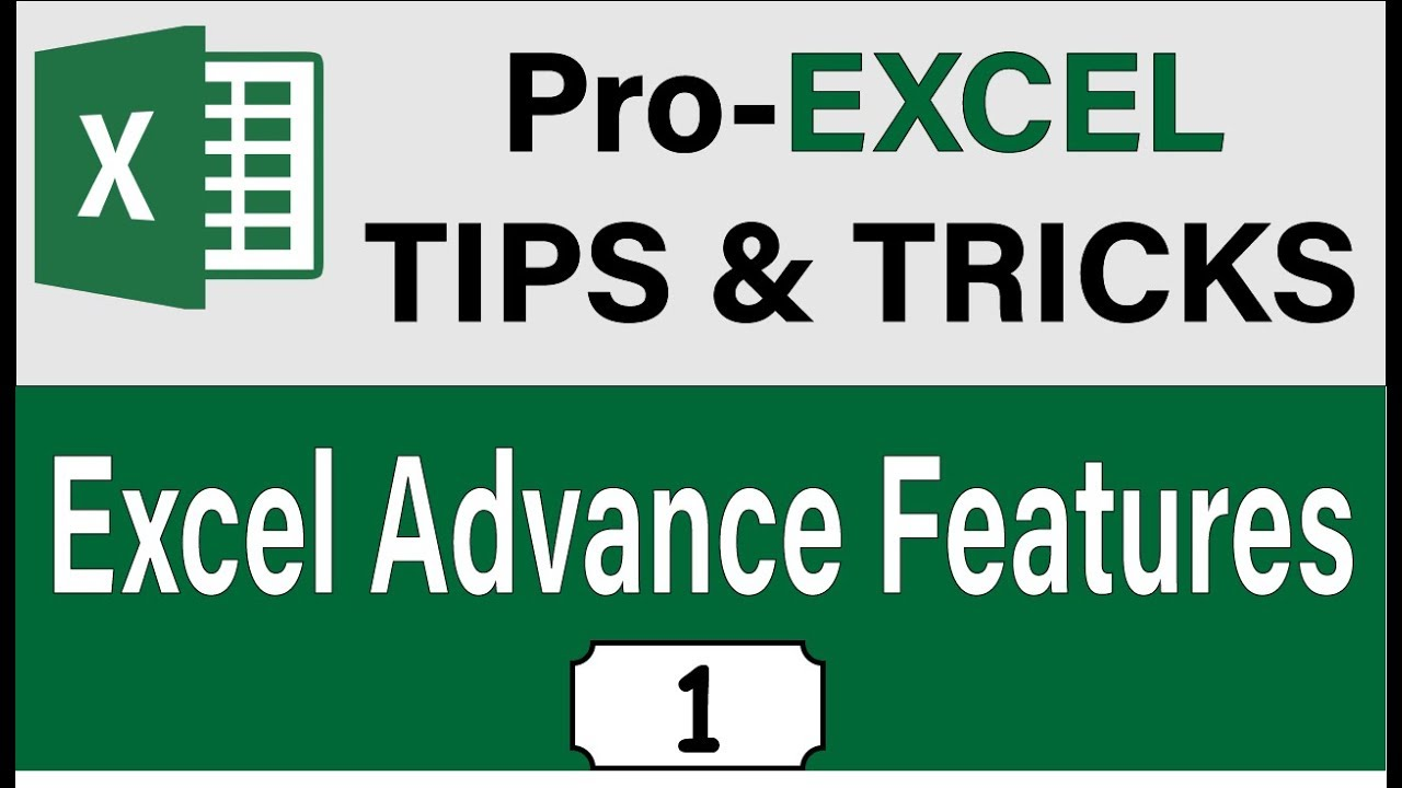 20 Advance Excel Tips And Tricks 2019, Excel 2019 Cool Features & Skills