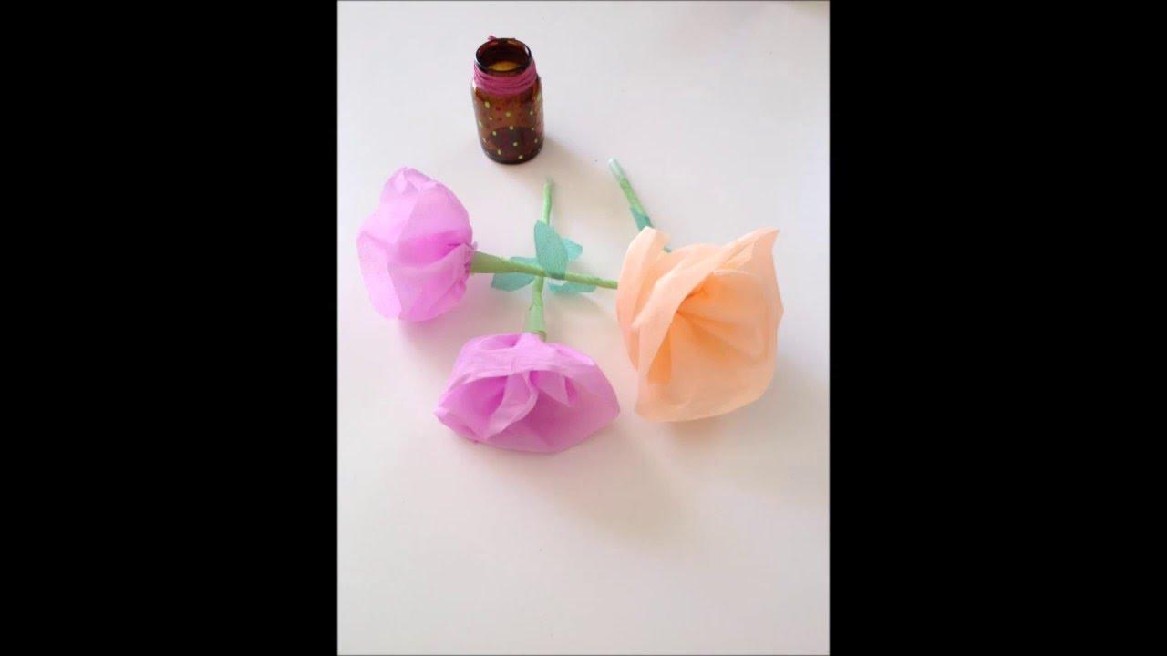 Fleur En Papier Crepon Facile A Faire intérieur comment fabriquer une fleur en papier crépon ! - youtube