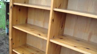 Pine Adjustable Bookcase